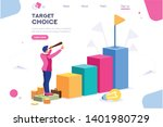 marketing moving up path.... | Shutterstock .eps vector #1401980729