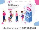 financial  withdrawal cash.... | Shutterstock .eps vector #1401981590