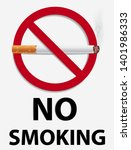 no smoking sign graphic vector   Shutterstock .eps vector #1401986333