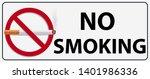 no smoking sign graphic vector   Shutterstock .eps vector #1401986336