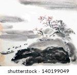 chinese landscape painting | Shutterstock . vector #140199049