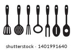kitchen tools set  black icons... | Shutterstock .eps vector #1401991640