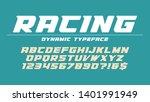 racing display font design ... | Shutterstock .eps vector #1401991949