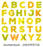 alphabet letters carved from... | Shutterstock . vector #1401993710