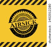 airsick black grunge emblem...   Shutterstock .eps vector #1402012280