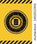 barrel icon grunge warning sign ...   Shutterstock .eps vector #1402012343