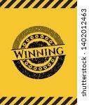 winning black grunge emblem ...   Shutterstock .eps vector #1402012463