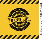 transcript grunge black emblem...   Shutterstock .eps vector #1402012490