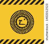 beach icon black grunge emblem  ...   Shutterstock .eps vector #1402012523