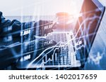 stock market or forex trading...   Shutterstock . vector #1402017659