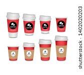 3d blank mug  coffee cup...   Shutterstock .eps vector #1402020203