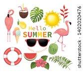 sweet flavor ice cream design ...   Shutterstock .eps vector #1402020476