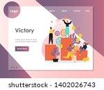 victory vector website template ...   Shutterstock .eps vector #1402026743