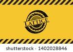 lattice inside warning sign ...   Shutterstock .eps vector #1402028846