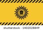 popcorn icon inside warning...   Shutterstock .eps vector #1402028849