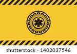 emergency cross icon inside...   Shutterstock .eps vector #1402037546