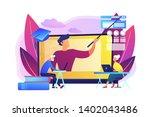 webinar  internet lesson.... | Shutterstock .eps vector #1402043486