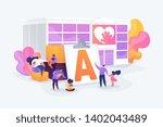 special needs children... | Shutterstock .eps vector #1402043489