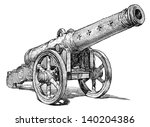 medieval cannon | Shutterstock . vector #140204386