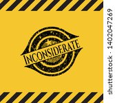 inconsiderate grunge warning...   Shutterstock .eps vector #1402047269