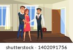 realtor selling building to... | Shutterstock .eps vector #1402091756