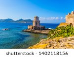 the three tiered watchtower is ... | Shutterstock . vector #1402118156