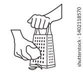 black and white hand grating...   Shutterstock . vector #1402118570