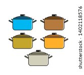 isolated source pan color...   Shutterstock . vector #1402118576