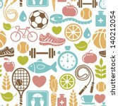 seamless pattern with healthy... | Shutterstock .eps vector #140212054
