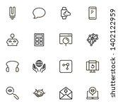 online consultation ine icon... | Shutterstock .eps vector #1402122959