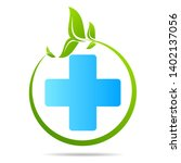 health care green medical cross ... | Shutterstock .eps vector #1402137056