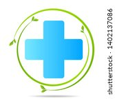 health care green medical cross ... | Shutterstock .eps vector #1402137086