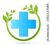 health care green medical cross ... | Shutterstock .eps vector #1402137089