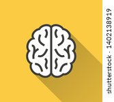 brain vector icon with long... | Shutterstock .eps vector #1402138919