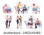 flat style business people... | Shutterstock .eps vector #1402145483