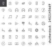 music and sound line icons set. ... | Shutterstock .eps vector #1402145669