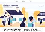 real estate landing. people... | Shutterstock .eps vector #1402152836