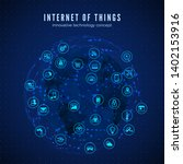 internet of things. iot concept.... | Shutterstock .eps vector #1402153916