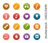Colored Dots - Medical and Healthcare icons
