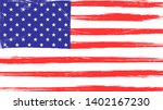 vintage american flag with... | Shutterstock .eps vector #1402167230