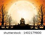 halloween pumpkins  spooky... | Shutterstock .eps vector #1402179800