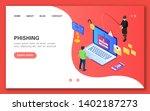 phishing. concept banner in...   Shutterstock .eps vector #1402187273