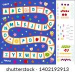 funny cartoon english alphabet...   Shutterstock .eps vector #1402192913