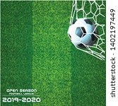open season football league ... | Shutterstock .eps vector #1402197449