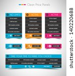 web price shop panel with space ... | Shutterstock .eps vector #140220688