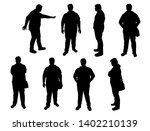 vector silhouettes of men... | Shutterstock .eps vector #1402210139