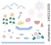 set of summer elements   vector ...