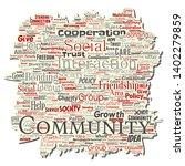vector conceptual community ... | Shutterstock .eps vector #1402279859