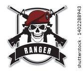 set of military badges ... | Shutterstock .eps vector #1402288943