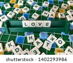 Scrabble Tiles Writing Love On...